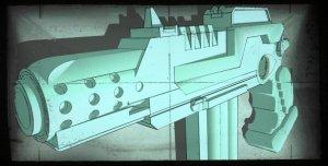 Sci-fi Auto Handgun concept art